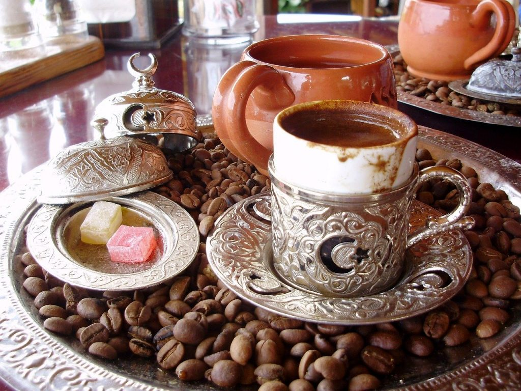 Turkish coffee with lokum, Turkish delight