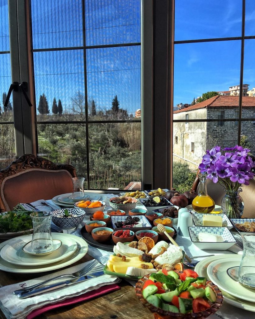 turkish breakfast urla izmir turkey